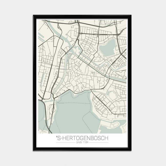 Poster Landkaart Groen
