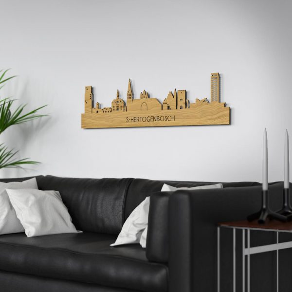 Skyline Den Bosch muur Eiken