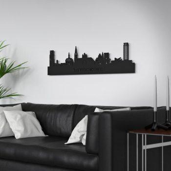 Skyline Den Bosch muur Zwart MDF