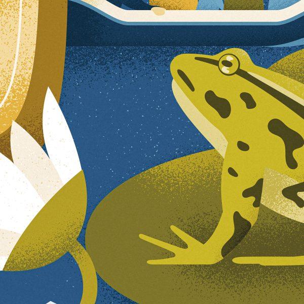 Poster Natuurlijke Den Bosch detail