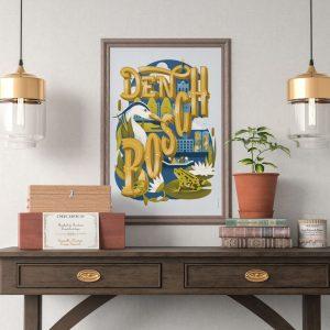 Poster Den Bosch vanaf het water