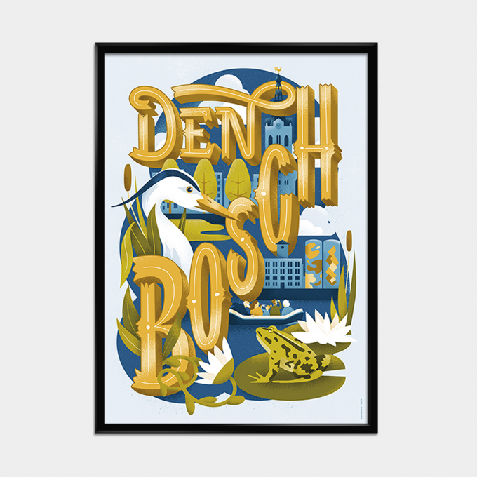 Poster Natuurlijk Den Bosch lijst