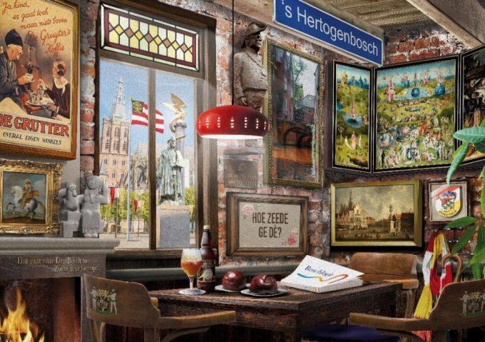 Puzzel Bosch Cafe